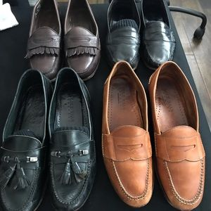 4 pair Cole Haan loafers